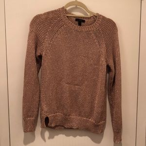 J.Crew Rose Gold Summer Sweater Size XS